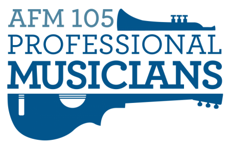 American Federation of Musicians 105 Logo